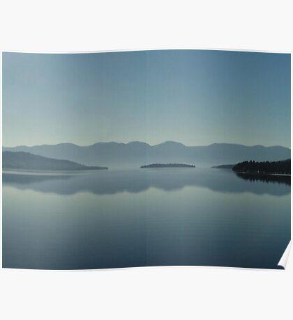 MAGIC MORNING ON FLATHEAD LAKE, MT Poster