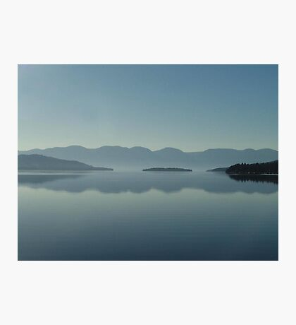 MAGIC MORNING ON FLATHEAD LAKE, MT Photographic Print