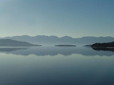 MAGIC MORNING ON FLATHEAD LAKE, MT by May Lattanzio