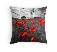 black, white and red Throw Pillow