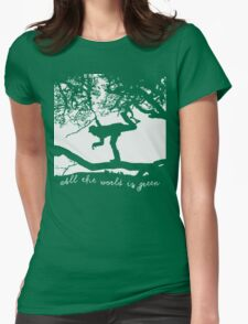 Tom Waits - All the World is Green Womens Fitted T-Shirt