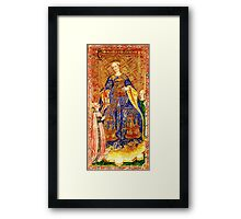 Medieval Queen painting Framed Print