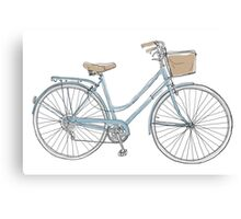 vintage bicycle  cute art Canvas Print
