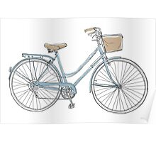 vintage bicycle  cute art Poster