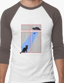 My cat saw an abduction by the window Men's Baseball ¾ T-Shirt