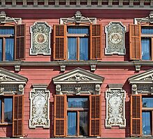 Windows in Maribor. by Lee d'Entremont