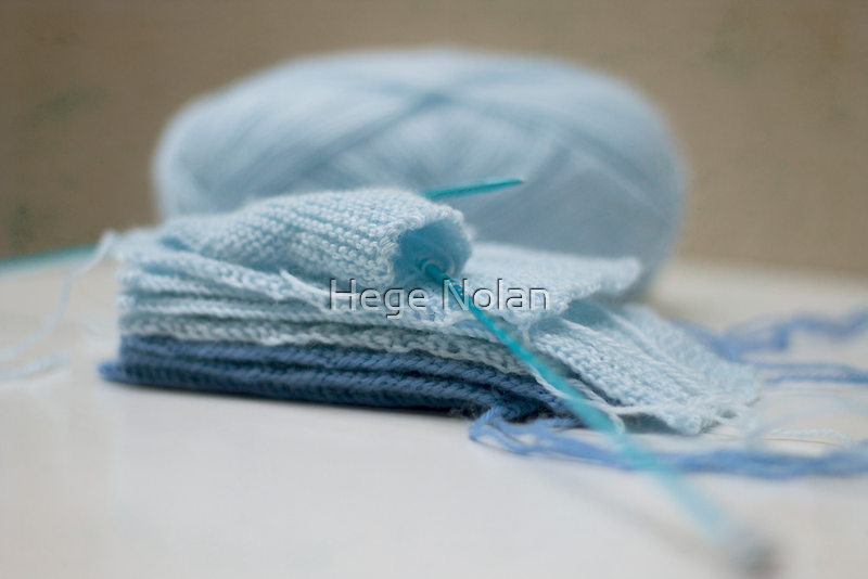 Baby Blue knitting by Hege Nolan