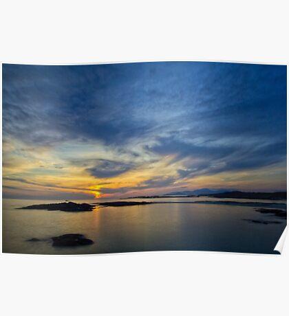 Sanna Bay Sunset Poster