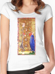 Medieval Queen painting Women's Fitted Scoop T-Shirt