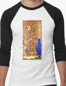 Medieval Queen painting Men's Baseball ¾ T-Shirt