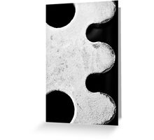 "Black & White ""E"" Greeting Card"