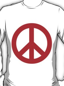 Peace - red. T-Shirt