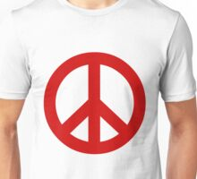Peace - red. Unisex T-Shirt