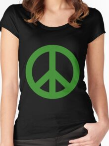 Peace - green. Women's Fitted Scoop T-Shirt