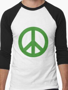 Peace - green. Men's Baseball ¾ T-Shirt