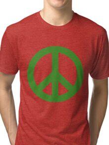 Peace - green. Tri-blend T-Shirt
