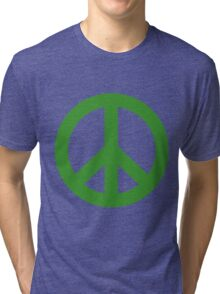 Peace - green. Tri-blend T-Shirt