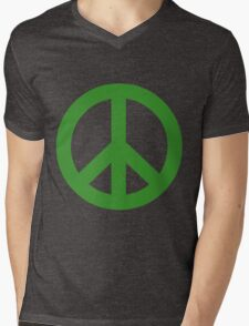 Peace - green. Mens V-Neck T-Shirt