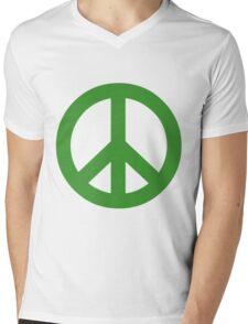 Peace - green. Mens V-Neck T-Shirt