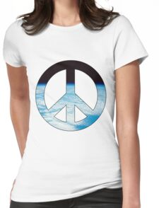 Peace - space. Womens Fitted T-Shirt