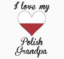 I Love My Polish Grandpa Kids Tee