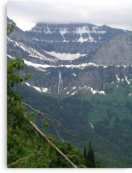 HEAVEN PEAK AND BIRD WOMAN FALLS - GLACIER NATIONAL PARK by May Lattanzio