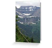 HEAVEN PEAK AND BIRD WOMAN FALLS - GLACIER NATIONAL PARK Greeting Card