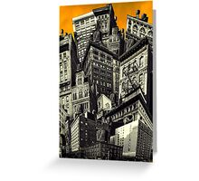 Walls and Towers Greeting Card
