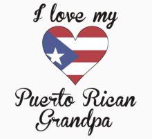 I Love My Puerto Rican Grandpa Kids Tee