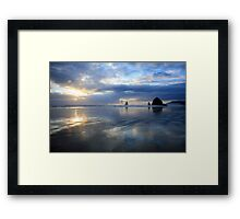 Cannon Beach Oregon Sunset Framed Print