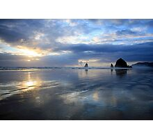 Cannon Beach Oregon Sunset Photographic Print