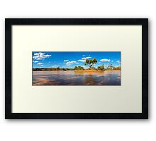Intersection of Reflection and Shadow Framed Print