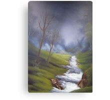 Rushing Stream from original country landscape oil painting  Canvas Print