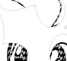 Fluttershy Cutie Mark With Fluttershy Sticker