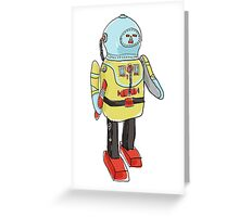 space captain toy cute art Greeting Card