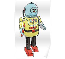space captain toy cute art Poster
