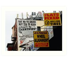 Say No to Drug, But Yes to Rugs Art Print