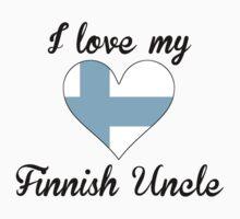 I Love My Finnish Uncle Kids Tee