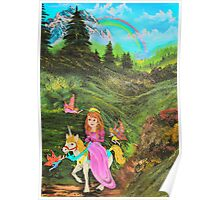 Fairy's Tell Wishes from original oil painting  Poster