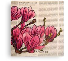 Magnolias In Modern Times Canvas Print