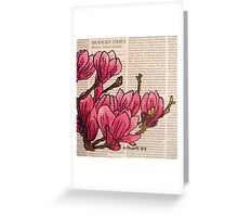 Magnolias In Modern Times Greeting Card
