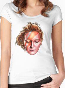 Tilda Swinton - Aladdin Sane Women's Fitted Scoop T-Shirt