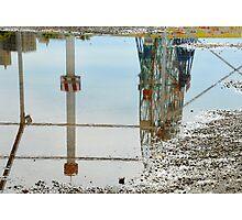 Reflection of the Wonder Wheel Photographic Print