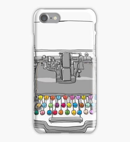 old Typewriter cute art iPhone Case/Skin