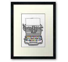 old Typewriter cute art Framed Print