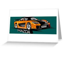 Mazda RX-7 Veilside Greeting Card