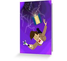 11th Doctor in the Vortex Greeting Card