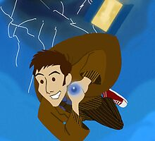 10th Doctor in the Vortex by Kileigh Gallagher
