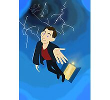 9th Doctor in the Vortex Photographic Print