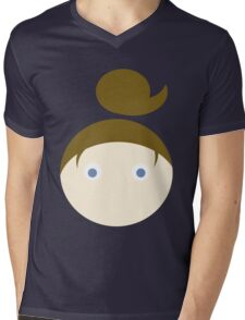 Brown Hair Blue Eyed Girl Mens V-Neck T-Shirt